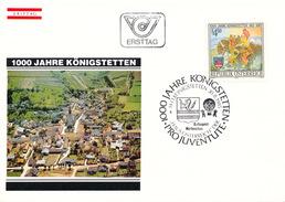L3213 - Austria (1985) 3433 Königstetten: 1000 Years City Königstetten (985-1985), Coat Of Arms
