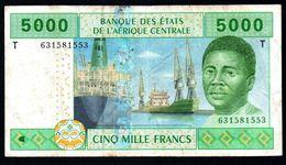 CENTRAL AFRICAN STATES  REPUBLIC CONGO 5000 FRANCS ND 2002 VF P-109T - Centrafricaine (République)