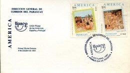 18788 Paraguay, Fdc 1991  Cristobal Colon,  Cristoforo Colombo,  Columbus  Coulombe - Cristóbal Colón