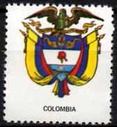 VIgnette Cinderella Seal Label Colombia Coats Of Arms Condor Olive Branch  Phrygian Cap Barretina Chapeau Hat
