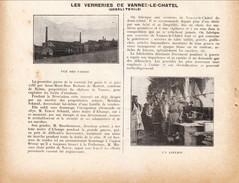 1923 - Iconographie Documentaire - Vannes-le-Châtel (Meurthe-et-Moselle) - Les Verreries - FRANCO DE PORT - Zonder Classificatie
