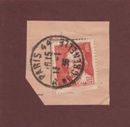 306 De 1935 - Oblitération Cachet Rond De PARIS . Grenelle.75 - Jacques  CALLOT - Sur Fragment