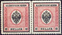 AUSTRIA - K.u.K.  STATISTISCHE GEBÜHR - TAX STAMPS In Pair - **MNH - Cc 1900