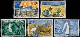 ~~~ Netherlands 1949 - Tourism Summer / Zomerzegels - NVPH 513/517  ** MNH ~~~ - Period 1949-1980 (Juliana)