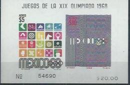 """MEXIQUE  : Y&T Bloc N° 19 """" Prélude Aux JO De Mexico 1968"""