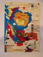 Cp0112  NON ECRITE Grandes Regions Viticoles  Cognac Bordeaux  Buzet Etc.... Carte Des Crus - Bordeaux