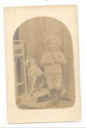 Fotokaart Studio  - Jeune Garçon Avec Un Cheval à Bascule - Jeu, Jouet / Speeltje / Toy - Pays-Bas / Nederland (756)Mi9 - Speelgoed & Spelen