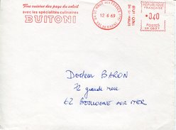 18803 France, Red Meter Freistempel Ema, 1969 St.maur, Culinary Speciality Pasta BUITONI (front Of Cover)