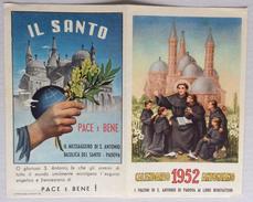 1952 CALENDARIO ANTONIANO - I FRATINI DI SANT' ANTONIO DI PADOVA AI LORO BENEFATTORI - Calendari