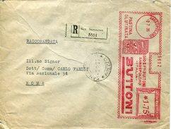 18805 Italia, Red Meter/freistempel/ema/affrancatura Rossa 1935 Sansepolcro,pastina Glutinata Buitoni,circuled Regist.