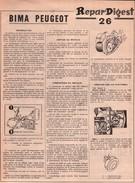 Repar'Digest 26 - BIMA PEUGEOT -Page Tirée De L'Officiel Du Cycle Et Du Motocycle 1959 - Reclame