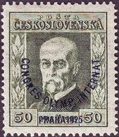 CZECHOSLOVAKIA - OLYMPIC CONGRESS Ovpt. - **MNH - 1925