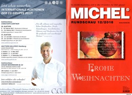 Briefmarken Rundschau MICHEL 12/2016 Neu 6€ New Stamps Of The World Catalogue/ Magacine Of Germany ISBN978-3-95402- - Tedesco