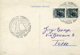 18816  Italia, Special Postmark 1954 Trieste Italian Champ. Iole Olimpic