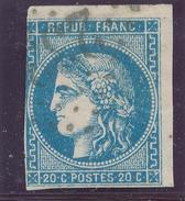 N°45 BORDEAUX VARIÉTÉ OBLITÉRATION.