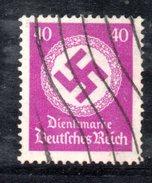 XP2523 - TERZO REICH 1934 , Unificato Servizio N. 103 Usato . Filigrana Svastica