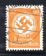 XP2524 - TERZO REICH 1934 , Unificato Servizio N. 104 Usato . Filigrana Svastica