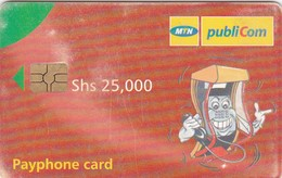 Uganda, UGA-MT-12, Shs 25.000, MTM Advertising Card, 2 Scans.    Please Read