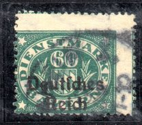 XP2528 - TERZO REICH 1920 , Unificato Servizio N. 28 H Usato . Dentellatura Molto Spostata