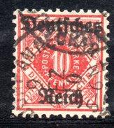 XP2526 - TERZO REICH 1920 , Unificato Servizio N. 28 BB Usato .