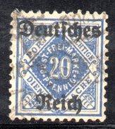 XP2529 - TERZO REICH 1920 , Unificato Servizio N. 28 DD Usato .