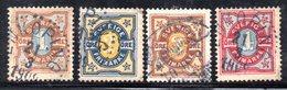 XP2532 - SVEZIA 1892 , Unificato Serie N. 50/53 Usata
