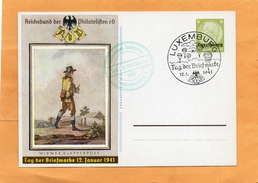 Luxembourg WW2 Card - 1940-1944 Occupation Allemande