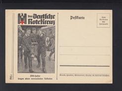 Dt. Reich AK Rotes Kreuz DRK-Helfer Tragen Einen Verwundeten Soldaten - War 1939-45