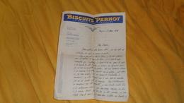 LETTRE ANCIENNE DE 1930. / BISCUITS PERNOT LA GRANDE MARQUE FRANCAISE. - Publicités
