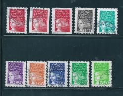 France Timbres De 1997    N°3083 A 3092  Marianne Du 14 Juillet  Oblitéré - 1997-04 Marianna Del 14 Luglio