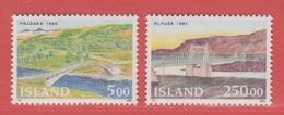 1992 ** Islande  (sans Charn., MNH, Postfrish)  Yv  721/2Mi  768/9FA  803/4 - 1944-... Republik