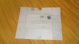 DEVANT DE LETTRE ANCIENNE DE 1859. / COMPAGNIE D'ASSURANCES GENERALES. DIRECTION DE LILLE. / CACHETS + OBLIT. PC + TIMBR - Marcofilia (sobres)