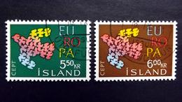 Island 354/5 Oo/used, EUROPA/CEPT 1961 - 1944-... Republik