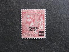 Monaco:  TB N°52, Neuf XX. Cote = 5 Euros.