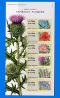 GB 2014-0054, Symbolic Flowers, Set (6V) MNH - Great Britain