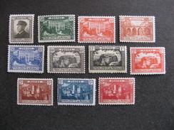 Monaco: TB Série N°54 Au N° 64, Neufs XX. Cote = 165 Euros.