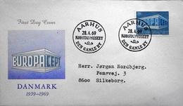 Denmark  1969   CZ. Slania    EUROPA Cover AARHUS Den Gamleby  MiNr. 479 FDC ( Lot  6280 )