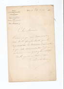 ALPHONSE DE CALONNE (VICOMTE)  (1818 BETHUNE. 1902)  HOMME DE LETTRES ET CRITIQUE LITTERAIRE LETTRE A SIGNATURE 1860 - Autographes