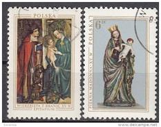 2185 Polonia 1976 Reliquie Del XV° Secolo Scultura In Legno : Bella Madonna. Madonna Col Bambino Epitaffio