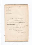 ALPHONSE DE CALONNE (VICOMTE) 1818 BETHUNE . 1902 HOMME DE LETTRES ET CRITIQUE LITTERAIRE  LETTRE A SIGNATURE 1860 - Autographes