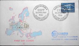 Denmark 1969   CZ. Slania FDC   EUROPA   MiNr. 479  ( Lot 6280  ) Green Text EUROPA