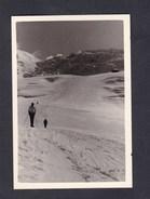 Photo Originale Randonnée Ski Dans La Vallée Blanche Chamonix Mont Blanc  Le Glacier Du Tacul  En Avril 1960 - Lieux