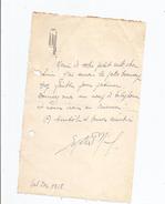 SUZETTE O'NIL (SUZANNE PAULINE ALBERTINE WAROQUIEZ) 1895 LILLE 1967 PARIS CHANTEUSE ET ACTRICE LETTRE A SIGNATURE - Autographes