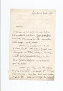 ETIENNE PROSPER DUBOIS GUCHAN (1802 BAGNERES DE BIGORRE 1881 LYON) LETTRE A SIGNATURE 1870 - Autographes