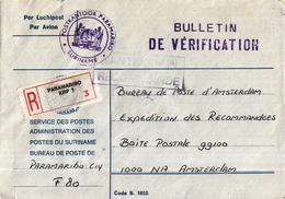 Suriname - Recommandé/Registered Letter/Einschreiben - Paramaribo KRP 1 - Suriname