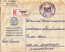 Suriname - Recommandé/Registered Letter/Einschreiben - Paramaribo KRP 6 - Suriname