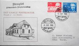 Denmark 1980 EUROPA Minr.699-700 FDC ( Lot  6280 )  Cover Det Gamle Postkontor Holsterbro