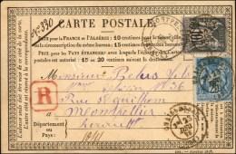 Càd T 17 GRAISSESSAC (33) / N° 79 + N° 89 Sur CP Recommandée (rare D'un Autre Bureau Que...