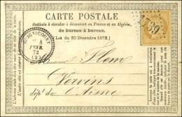 GC 1739 / N° 59 Càd T 23 GUIGNICOURT (2) Sur Carte Précurseur Pour Vervins. 1873. - SUP. - R.