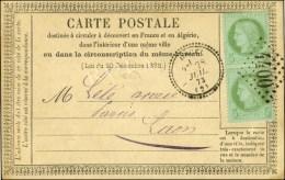 GC 4400 / N° 53 Paire Càd T 23 URCEL (2) Sur Carte Précurseur Locale Pour Laon. 1873....
